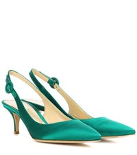 Gianvito Rossi Jackie Satin Pumps Green