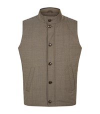 Peter Millar Quilted Gilet Male Beige
