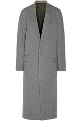 Haider Ackermann Wool Blend Maxi Coat Gray
