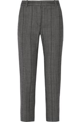 3.1 Phillip Lim Houndstooth Wool Blend Straight Leg Pants Gray