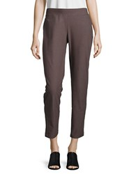 Eileen Fisher Slim Fit Ankle Length Pants Brown