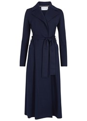 Harris Wharf London Navy Flared Jersey Trench Coat