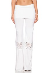 Nightcap Crochet Beach Pants White