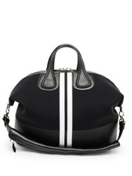 Givenchy Nightingale Stripe Micro Satchel Black White