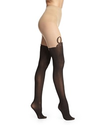 Alice Olivia Mock Over The Knee Bunny Tights Nude Black