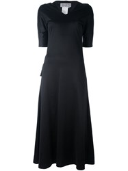 Yohji Yamamoto Vintage Long V Neck Dress Black