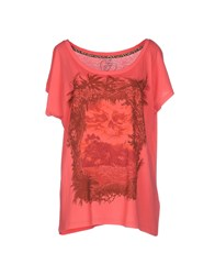 Iron Fist Topwear T Shirts Women Coral