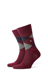 Burlington Printed Virgin Wool Ankle Socks Red