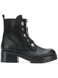 Strategia Lace Up Ankle Boots Black