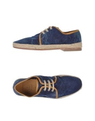 N.D.C. Made By Hand Lace Up Shoes Dark Blue
