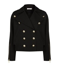 Lanvin Double Breasted Military Jacket Female Black