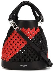 Sonia Rykiel Braided Bucket Shoulder Bag Black