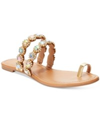 Thalia Sodi Joya Toe Ring Flat Sandals Only At Macy's Women's Shoes Gold