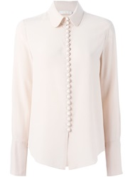 Chloe Chloe Peter Pan Collar Blouse Nude And Neutrals