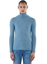 Gucci Ribbed Roll Neck Sweater Navy
