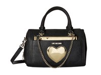 Love Moschino Chained Heart Handbag Black
