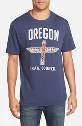 Tailgate 'Oregon' Graphic T Shirt Mast Blue