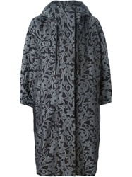 Adidas By Stella Mccartney Floral Cocoon Coat Black