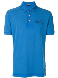 Napapijri Embroidered Logo Polo Shirt Blue