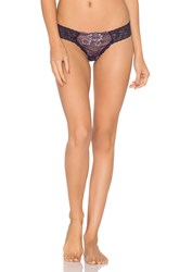 Hanky Panky Low Rise Diamond Thong Purple