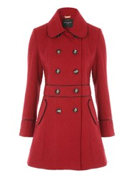 Jane Norman Black Fit And Flare Coat Burgundy