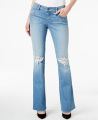 Kut From The Kloth Natalie Ripped Bootcut Poise Wash Jeans
