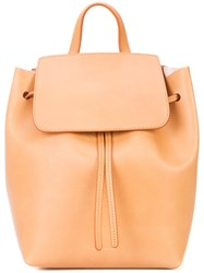 Mansur Gavriel Mini Drawstring Backpack Brown