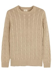 Dockers Campus Stone Cable Knit Cotton Jumper