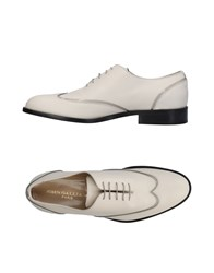 John Galliano Lace Up Shoes Beige