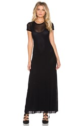 Only Hearts Club Tulle Maxi Tee Dress Black