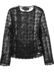 Simone Rocha Straight Cut Collarless Jacket Black