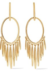 Ileana Makri Grass Sunset 18 Karat Gold Earrings One Size
