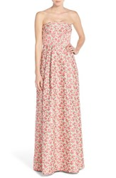Women's Tracy Reese Strapless Floral Ballgown