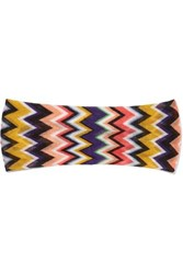 Missoni Crochet Knit Headband Navy