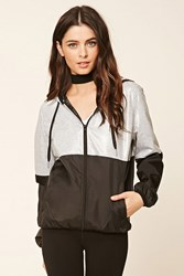 Forever 21 Heathered Panel Windbreaker