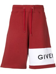 Givenchy Logo Shorts Red