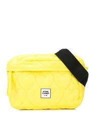 Opening Ceremony Heart Quilted Belt Bag Yellow