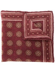 Brunello Cucinelli Patterned Scarf Red