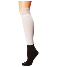 Bootights Lacie Lace Darby Knee High Ankle Sock White Knee High Hose