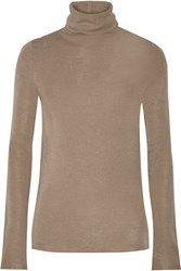 Joie Cenelle Wool And Silk Blend Turtleneck Sweater Nude