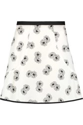 See By Chloe Printed Cotton Mini Skirt Off White