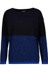 Magaschoni Two Tone Cashmere Sweater Midnight Blue