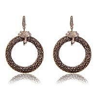 Latelita London Stingray Medium Hoop Earring Chocolate Brown Rose Gold