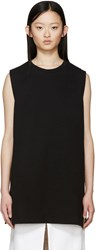 Maison Martin Margiela Black Long Sleeveless Sweatshirt