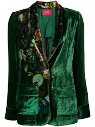F.R.S For Restless Sleepers Floral Print Blazer Green