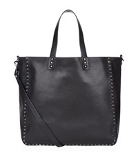 Valentino Reversible Grain Leather Tote Unisex Black