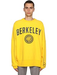 Calvin Klein 205W39nyc University Printed And Embroidered Sweater Yellow