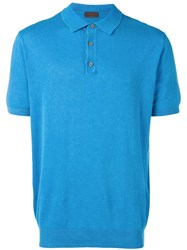 Altea Knitted Polo T Shirt Blue