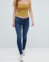 Hollister Low Waisted Super Skinny Jean Blue