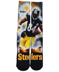 For Bare Feet Antonio Brown Pittsburgh Steelers City Star Player Crew Socks Black